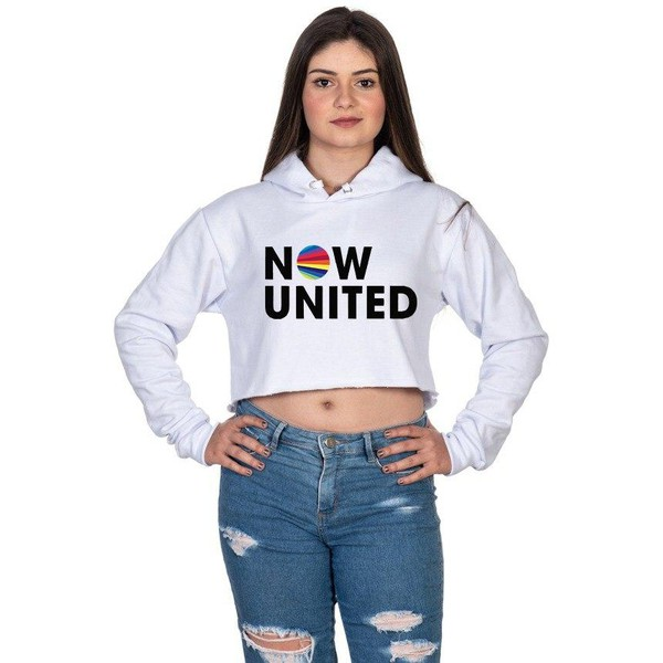 Cropped Moletom Now United Feminino Branco - Selten