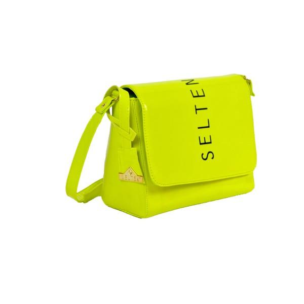 Bolsa Neon Feminina Lateral E transversal Verde Limão