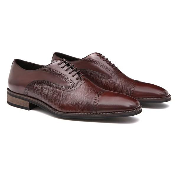 Sapato Masculino Oxford Brogue Café em Couro Legítimo