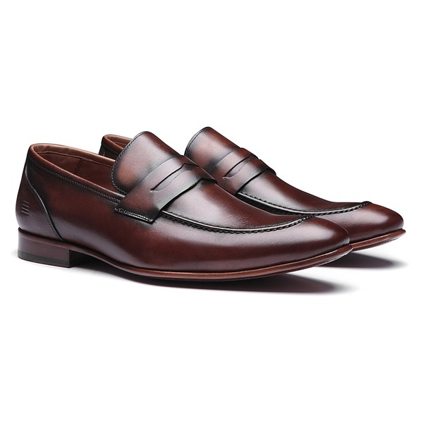 SAPATO MASCULINO PENNY LOAFER BROWN EM COURO