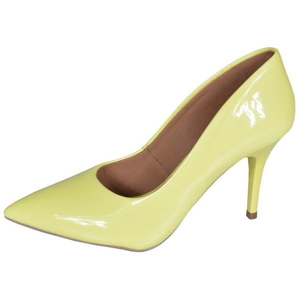 SCARPIN FACTOR FASHION SALTO MEDIO- AMARELO