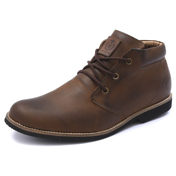 Bota Casual Masculina Shoes Grand Casual 01100/0 Taupe