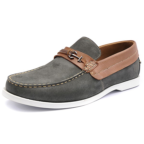 Mocassim Masculino Shoes Grand 4765/1 Chumbo/Whisky