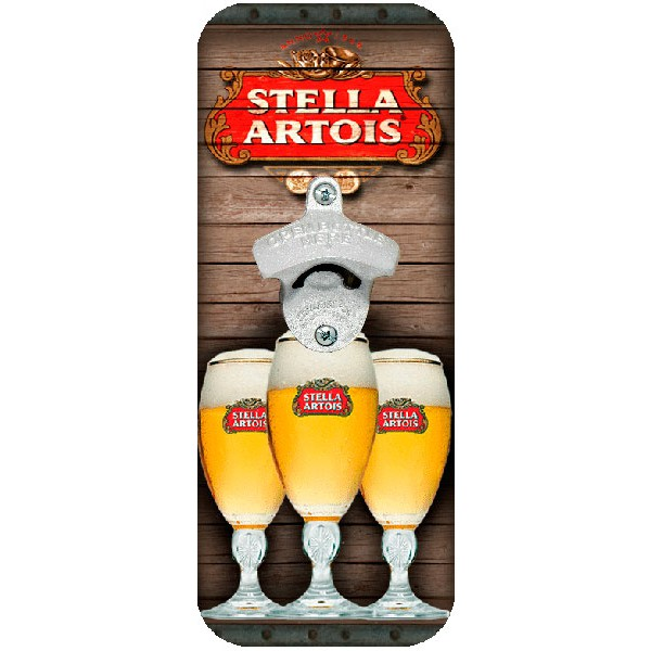 Abridor de Garrafa de Parede Stella Artois