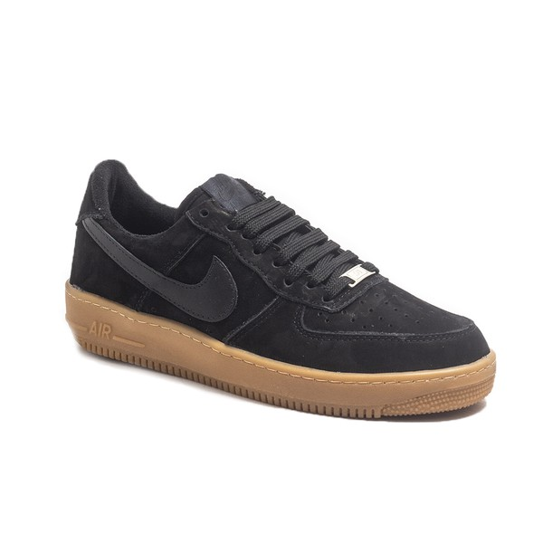 NIKE Air Force PRETO SOLA LATEX