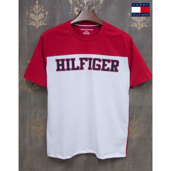 Camiseta Tommy TH Vermelha Com Branco
