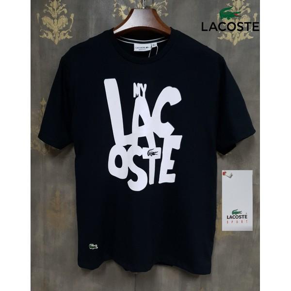 Camiseta Lacoste Preto Texto