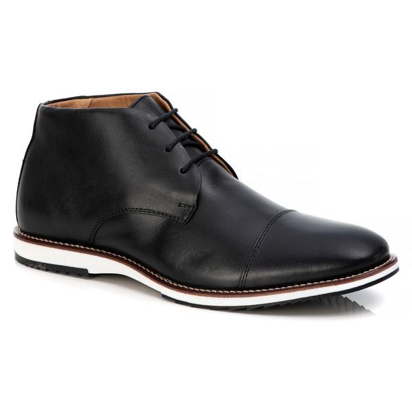 Sapato Brogue Premium em Couro Confort Tchwm Shoes Preto