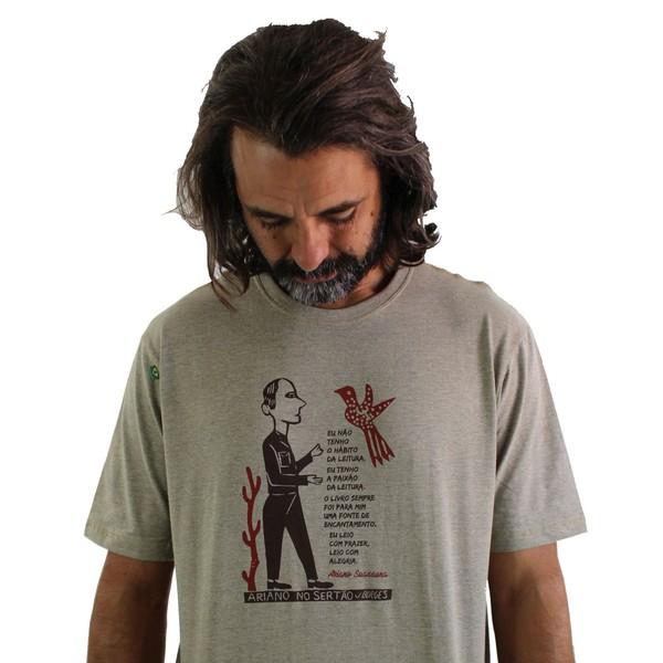 Camiseta Ariano Suassuna Cru