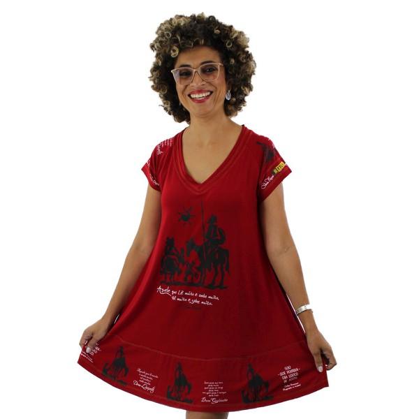 Vestido Dom Quixote Vermelho