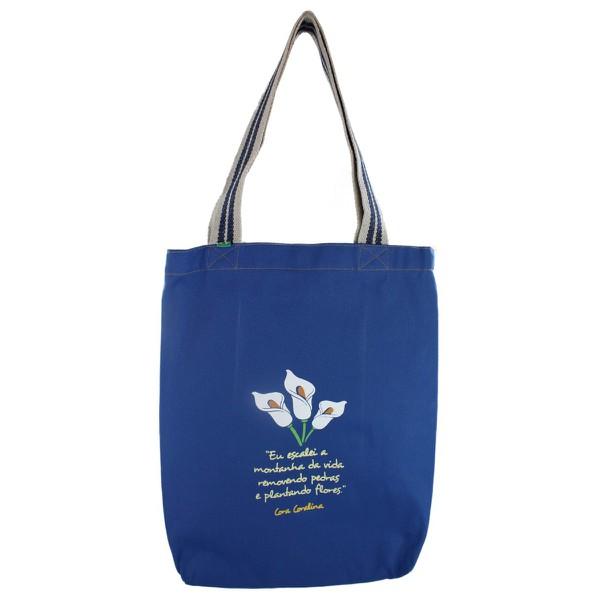 Bolsa Cora Coralina Montanhas Azul Royal