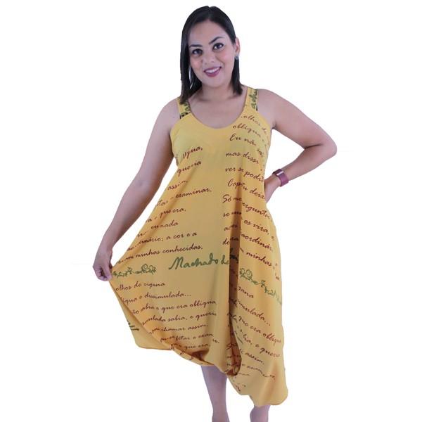 Vestido Saruel Machado de Assis Amarelo