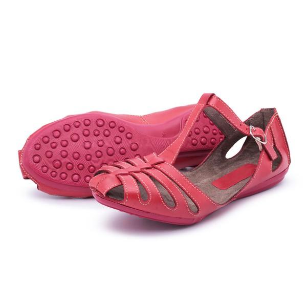 Sandália Sapatilha Feminina Top Franca Shoes Vermelha