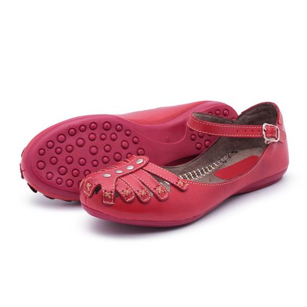 Sandália Sapatilha Feminina Vermelha