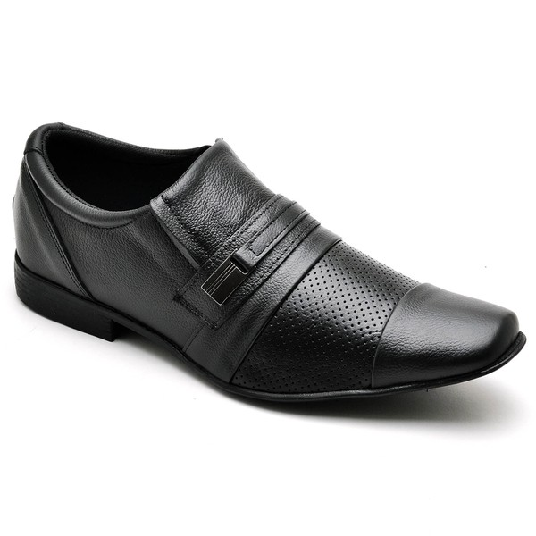 Sapato Social Masculino Top Franca Shoes Preto 1540