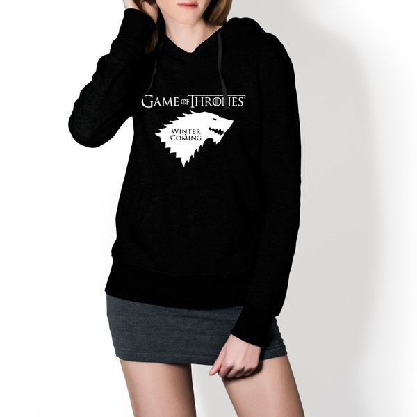 Moletom Feminino Game Of Thrones - Preto
