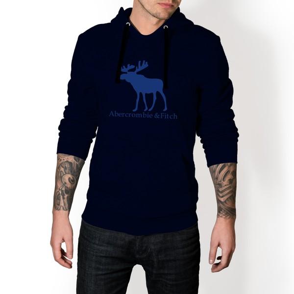 Moletom Masculino Abercrombie Fitch - Marinho e Azul