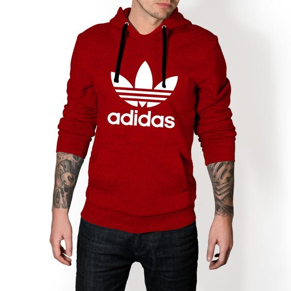 Moletom Masculino Adidas Tradicional - Vermelho