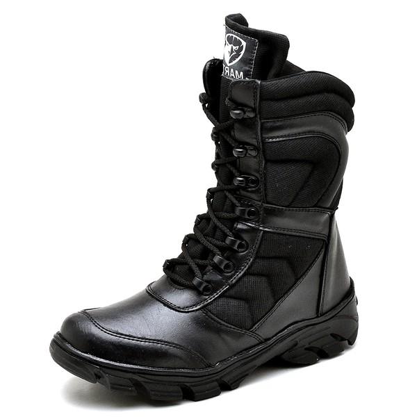 Bota Coturno Militar Top Franca Shoes Preto