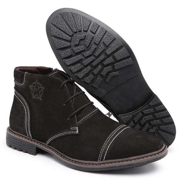 Bota Coturno Masculino Top Franca Shoes C/ Ziper Preto