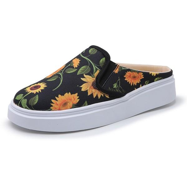 Sapatênis Feminino Top Franca Shoes Mule Floral