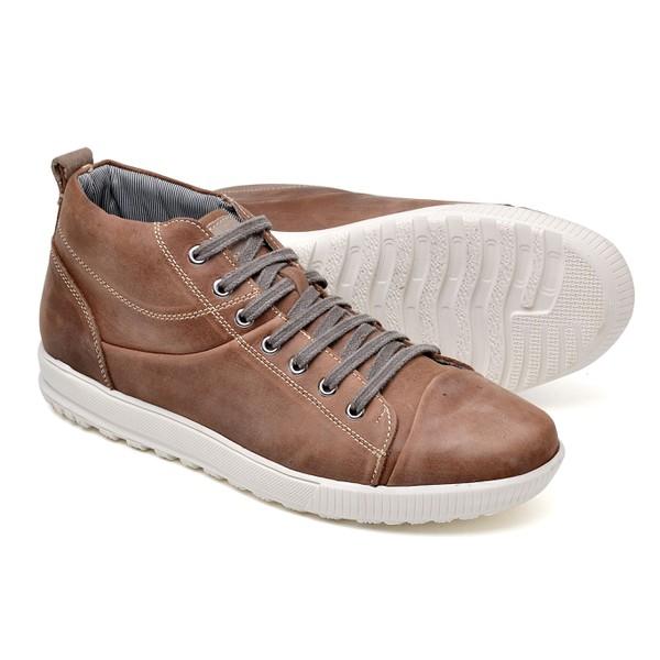 Tênis Casual Cano Alto Top Franca Shoes Capuccino