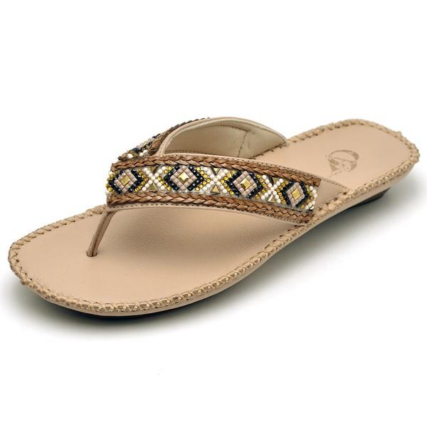 Sandalia Chinelo Feminino Top Franca Shoes Confort Nude