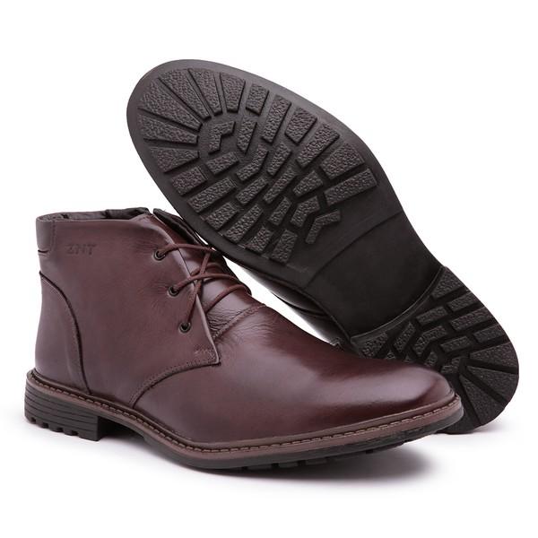 Sapato Bota Social Casual Masculino Marrom