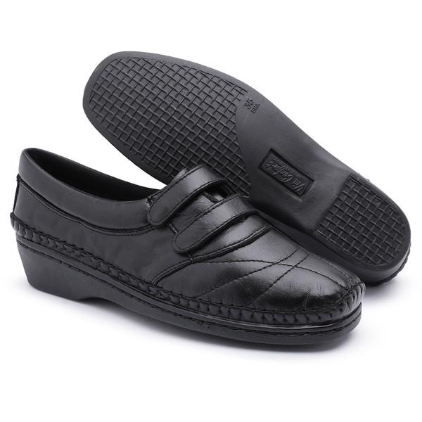 Tenis Sapatenis Conforto Top Franca Shoes Preto