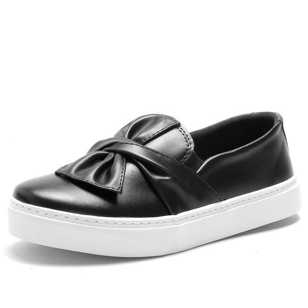 Tenis Sapatenis Feminino Top Franca Shoes Slip On Preto