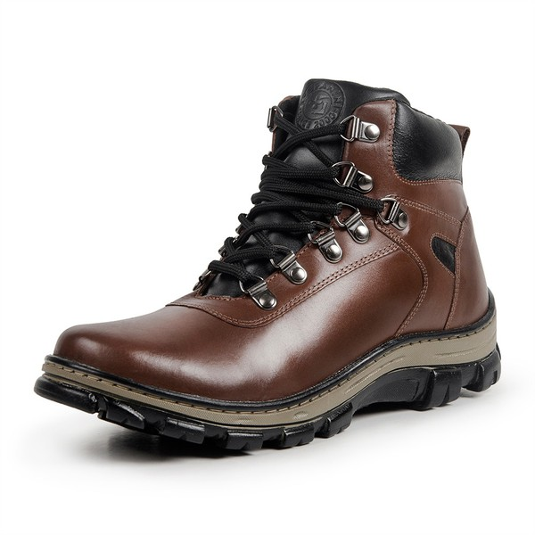 Bota Coturno Casual Masculino Top Franca Shoes Whisky