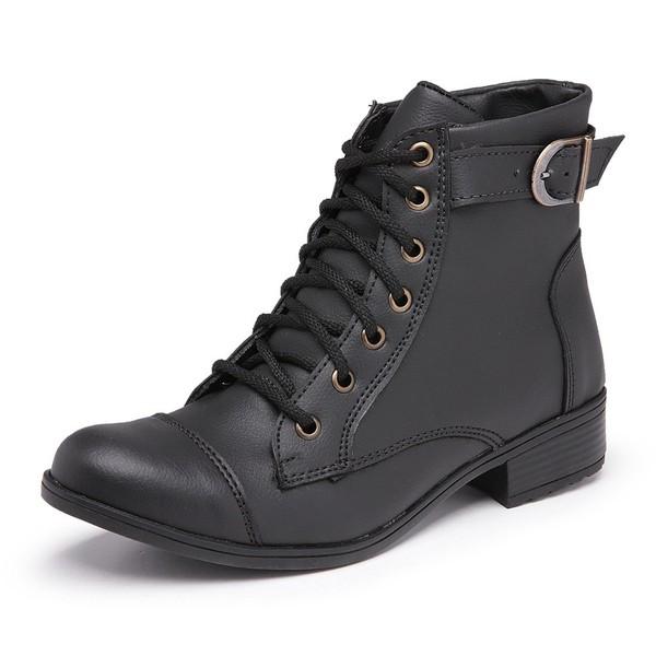 Bota Feminina Top Franca Shoes Cano Médio Preta