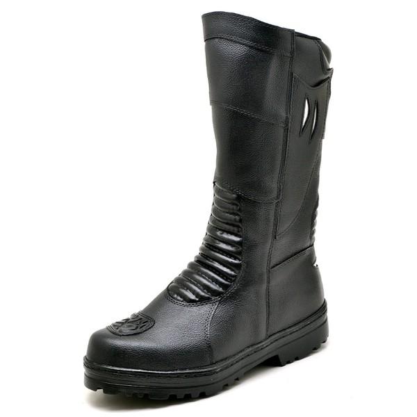 Bota Coturno Militar Motociclista Samu Bombeiro Top Franca Shoes Preto