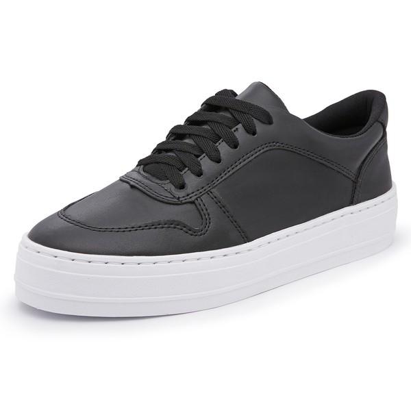 Tênis Feminino Top Franca Shoes Sola Alta Preto