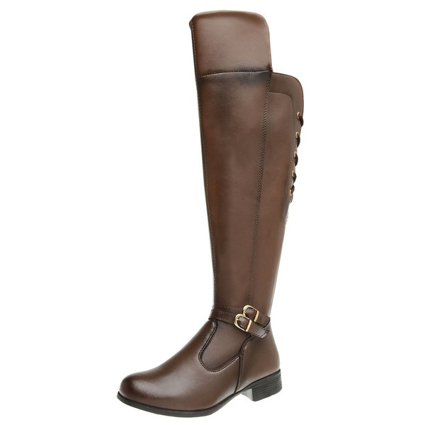 Bota Feminina Montaria Over Top Franca Shoes Capuccino