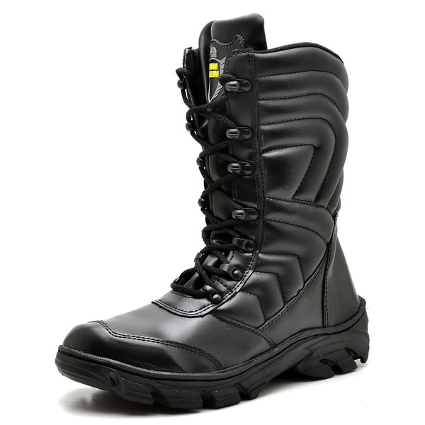 Bota Coturno Militar Top Franca Shoes Preto Fosco