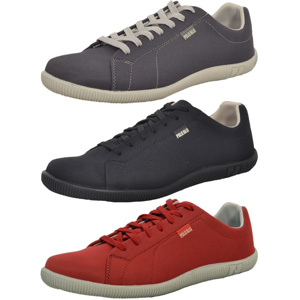 Kit 3 Pares Sapatênis Casual Top Franca Shoes Chumbo / Preto / Vermelho