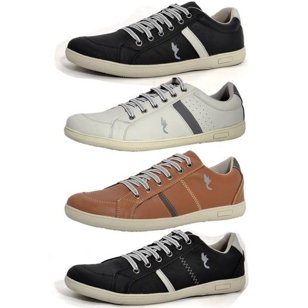 Kit 4 Pares Sapatênis Casual Top Franca Shoes Preto / Cinza / Camel