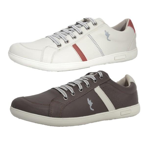 Kit 2 Pares Sapatênis Casual Top Franca Shoes Cinza / Café