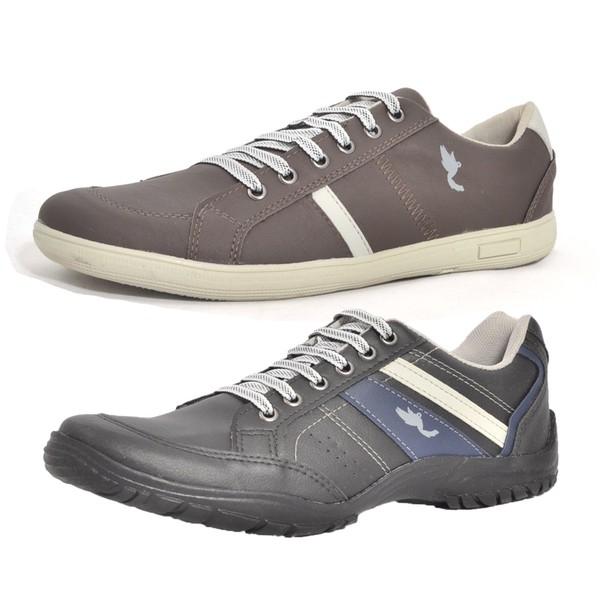 Kit 2 Pares Sapatênis Casual Top Franca Shoes Preto / Café