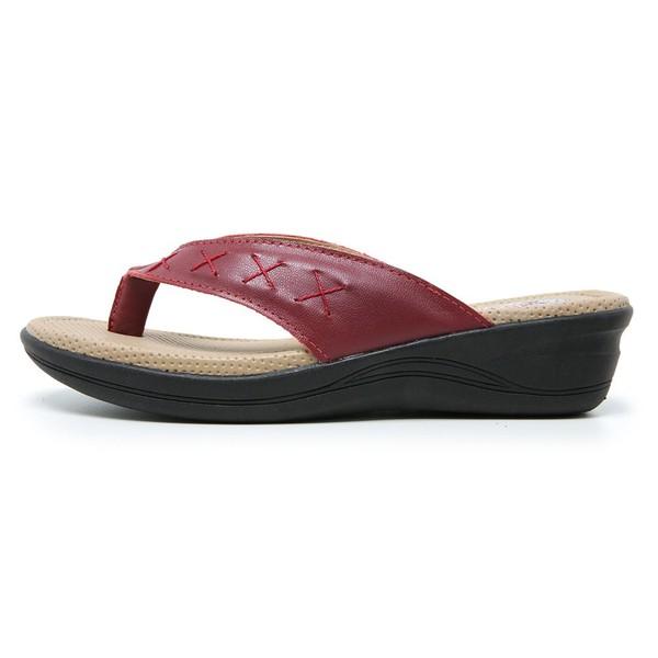 Sandália Chinelo de Dedo Conforto Anatomico Ortopédica Vermelho