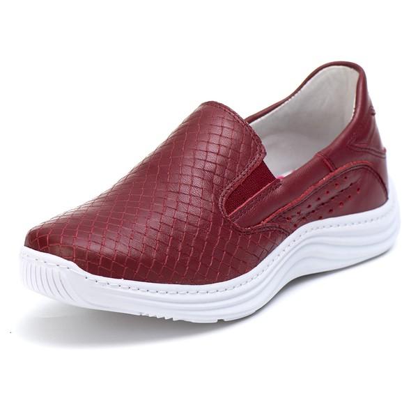 Tênis Sapatenis Slip Top Franca Shoes Bordo