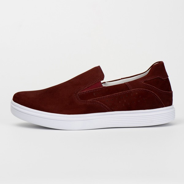 Tênis Sapatênis Slip Casual Top Franca Shoes Bordo