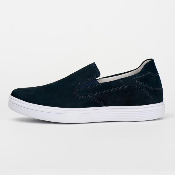 Tênis Sapatênis Slip Casual Top Franca Shoes Azul