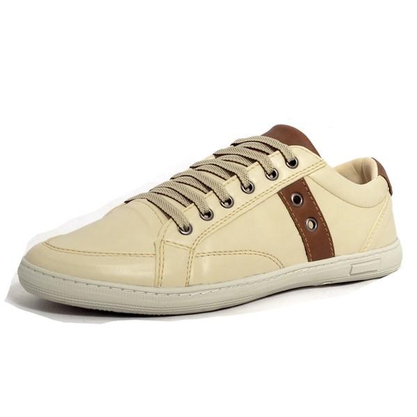 Sapatênis Tênis Masculino Top Franca Shoes Bege