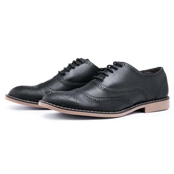 Sapato Social Brogue Top Franca Shoes Preto