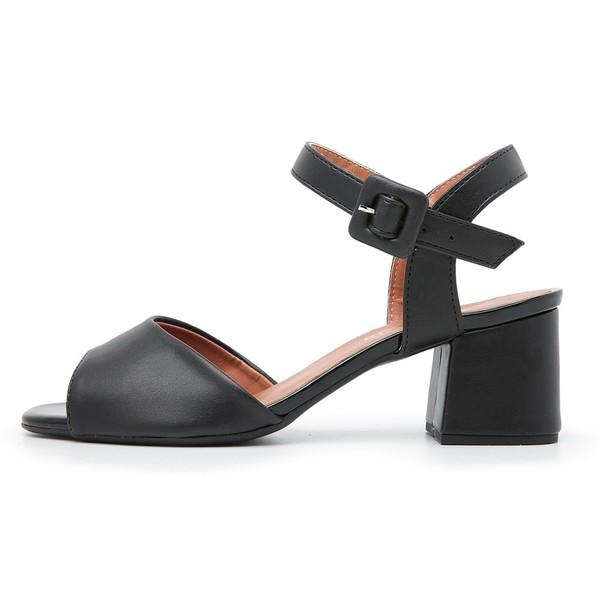 Sandália Feminina Salto Medio Top Franca Shoes Preto