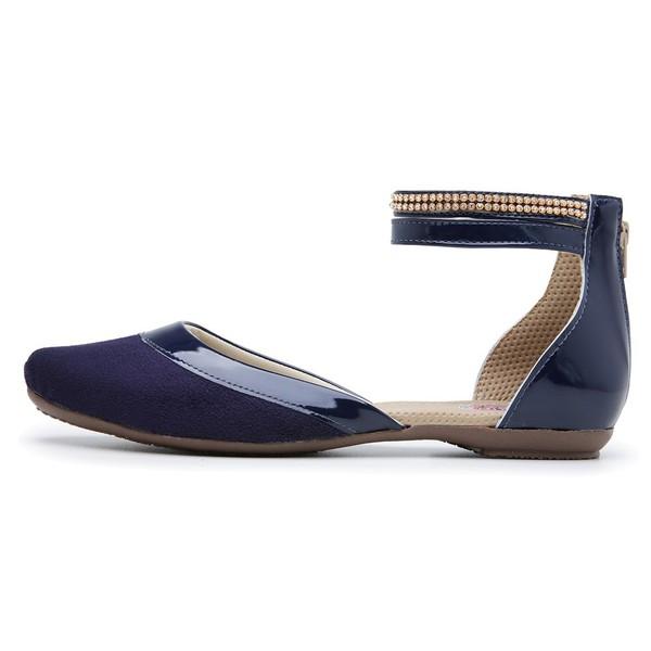 Sandália Sapatilha Mule Feminina Top Franca Shoes Marinho