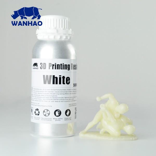 Resina Wanhao Fotopolimerizável para Impressora 3D com tecnologia DLP - Tipo 405Nm - Branco