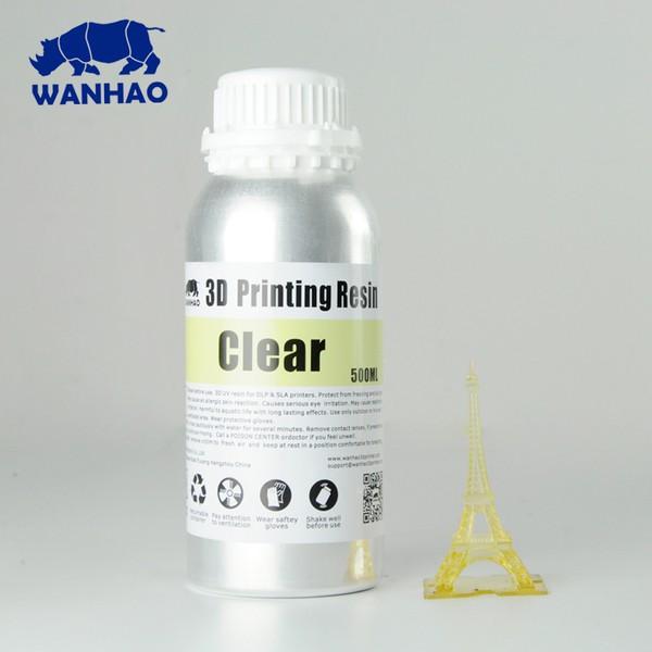 Resina Wanhao Fotopolimerizável para Impressora 3D com tecnologia DLP - Tipo 405Nm - Clear